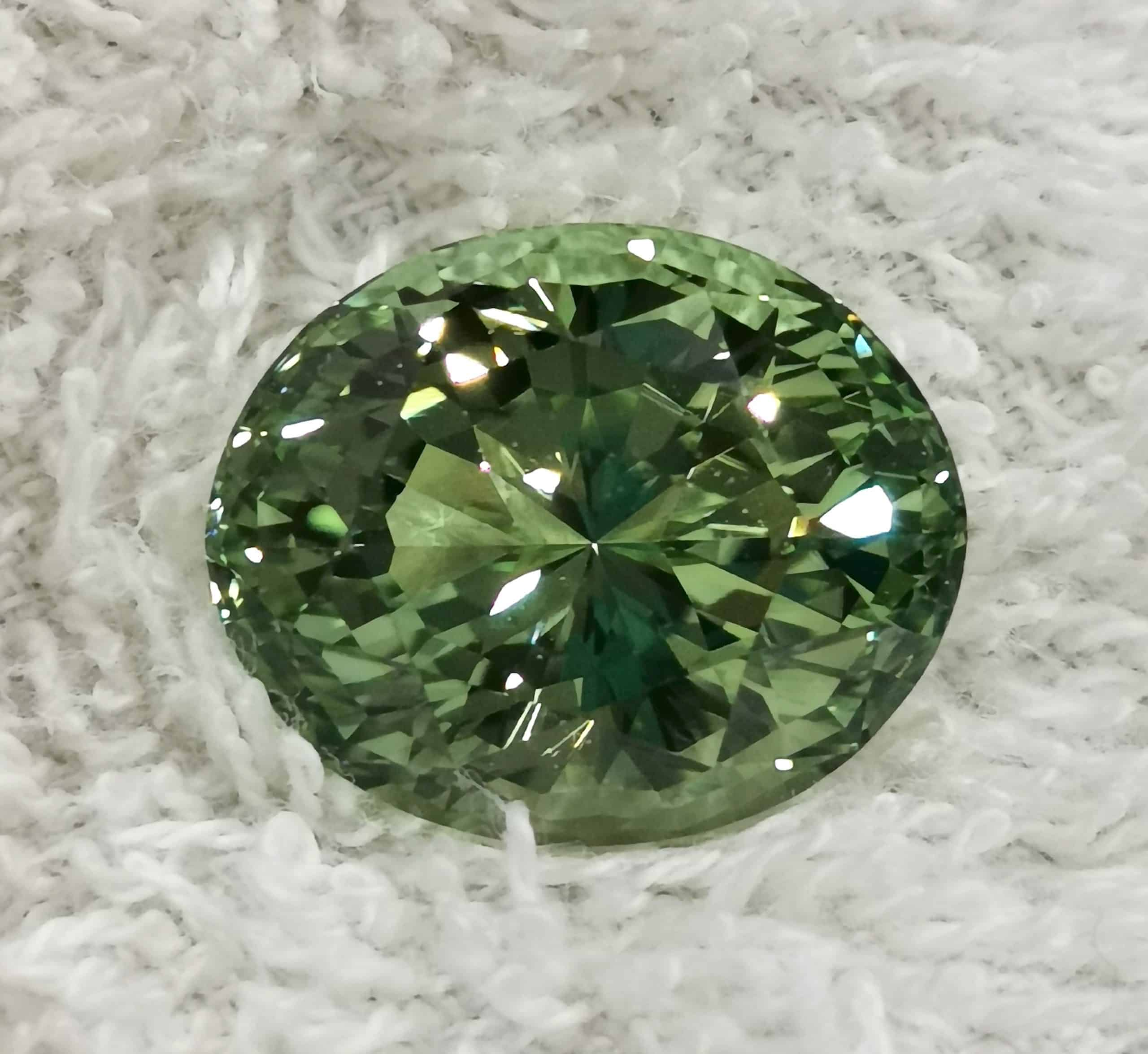 18.48-carat yellowish green tourmaline, Gembridge listing 348