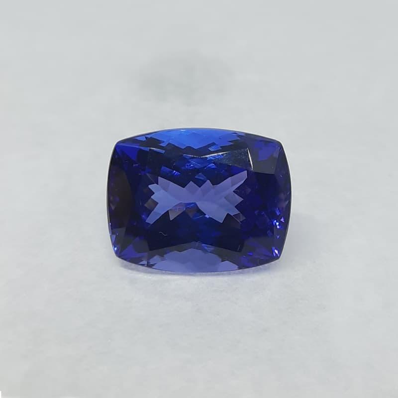 9.71-carat unheated cushion shape tanzanite