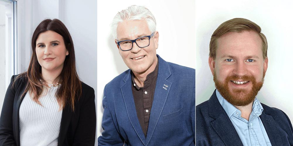 NAJ Summit Marketing Speakers - from L-R - Sarah Jordan, Gordon Glenister, David Glenwright - 12th September 2021