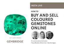 Insta Live, how to buy and sell coloured gemstones online.