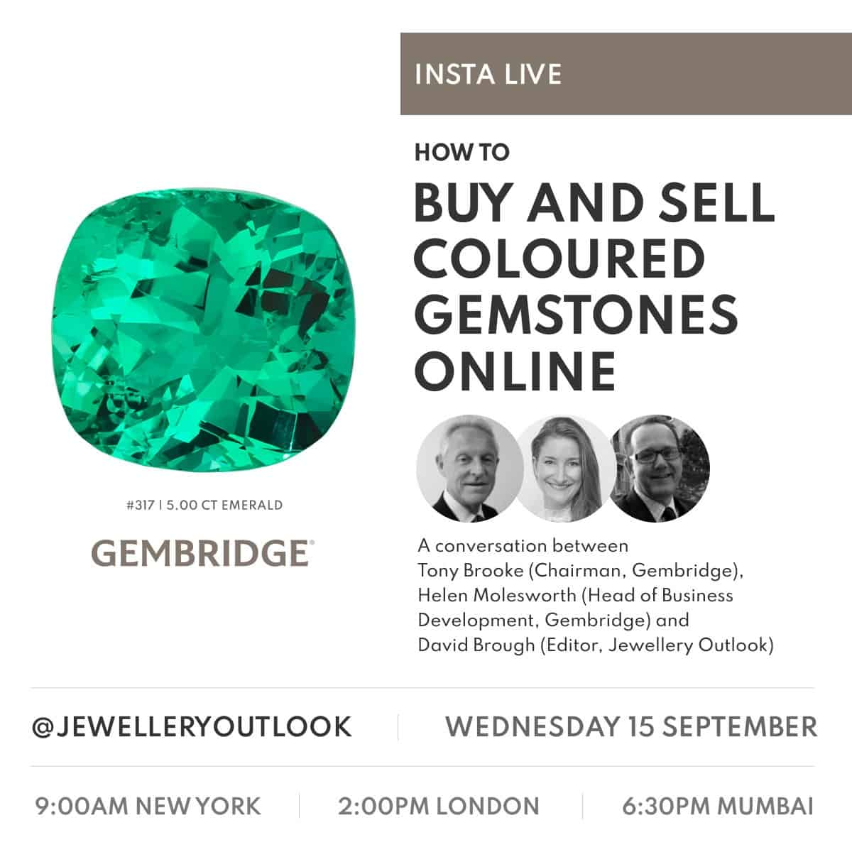 INSTA LIVE WRAPUP – Gembridge gives tips on how to buy and sell coloured gemstones online