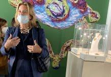 Professor and author Alba Cappellieri, curator of the exhibition